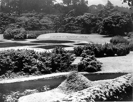 snow in golden gate park, 1932