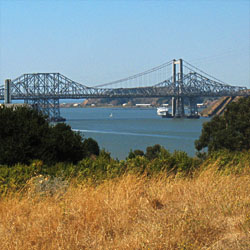 Carquinez Bridge from Carquinez Strait Regional Shoreline