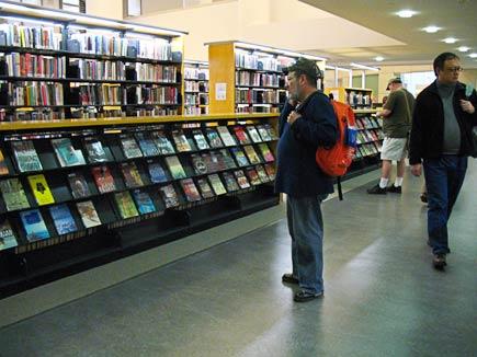 fiction stacks, san francisco library main brnch
