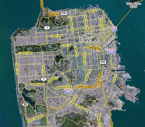 Map of San Francisco San