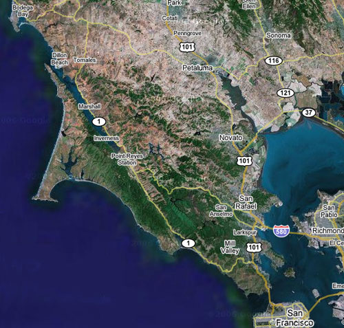 The North Bay region of the San Francisco Bay Area