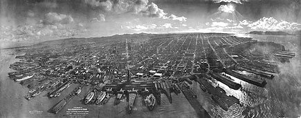 San Francisco in ruins, 1906. Be sure to view the large version via the link!