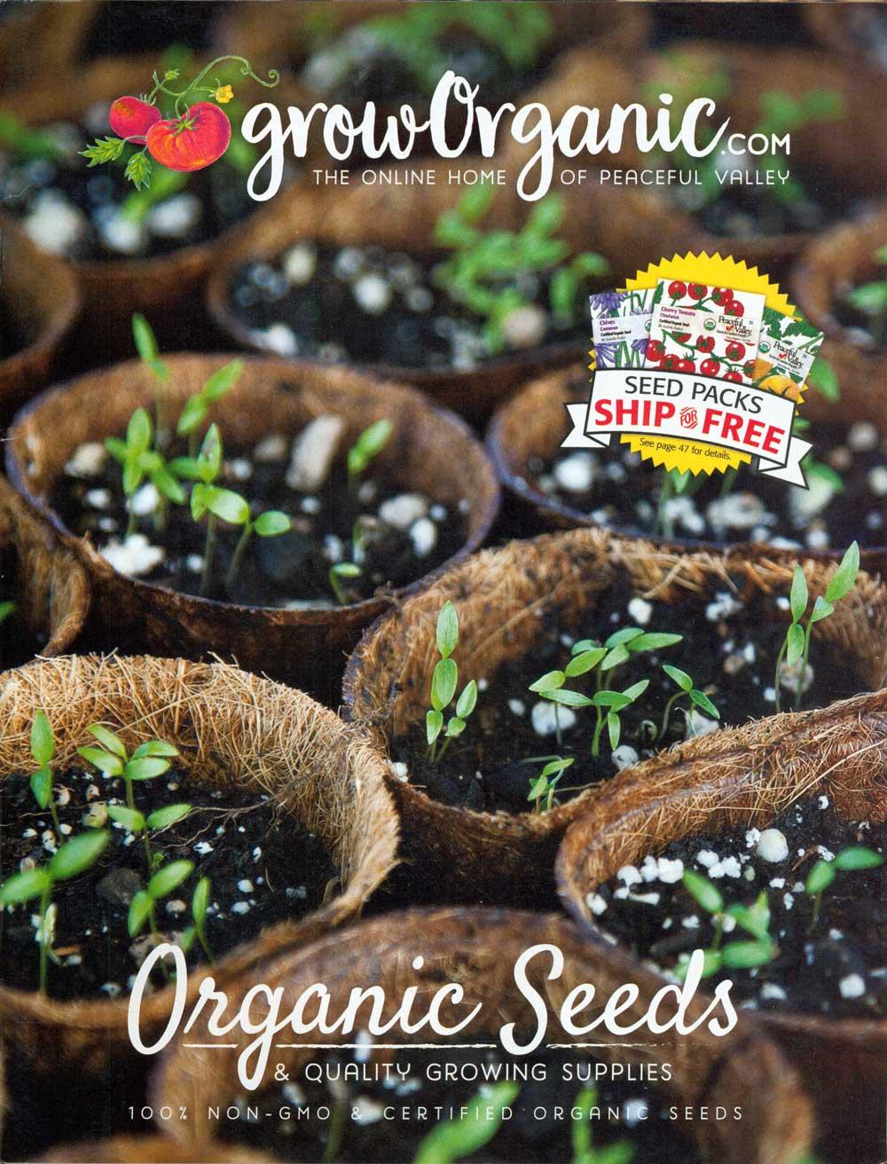 Grow Organic: Seeds, California, 7.75 x 10 in., 68 pp.