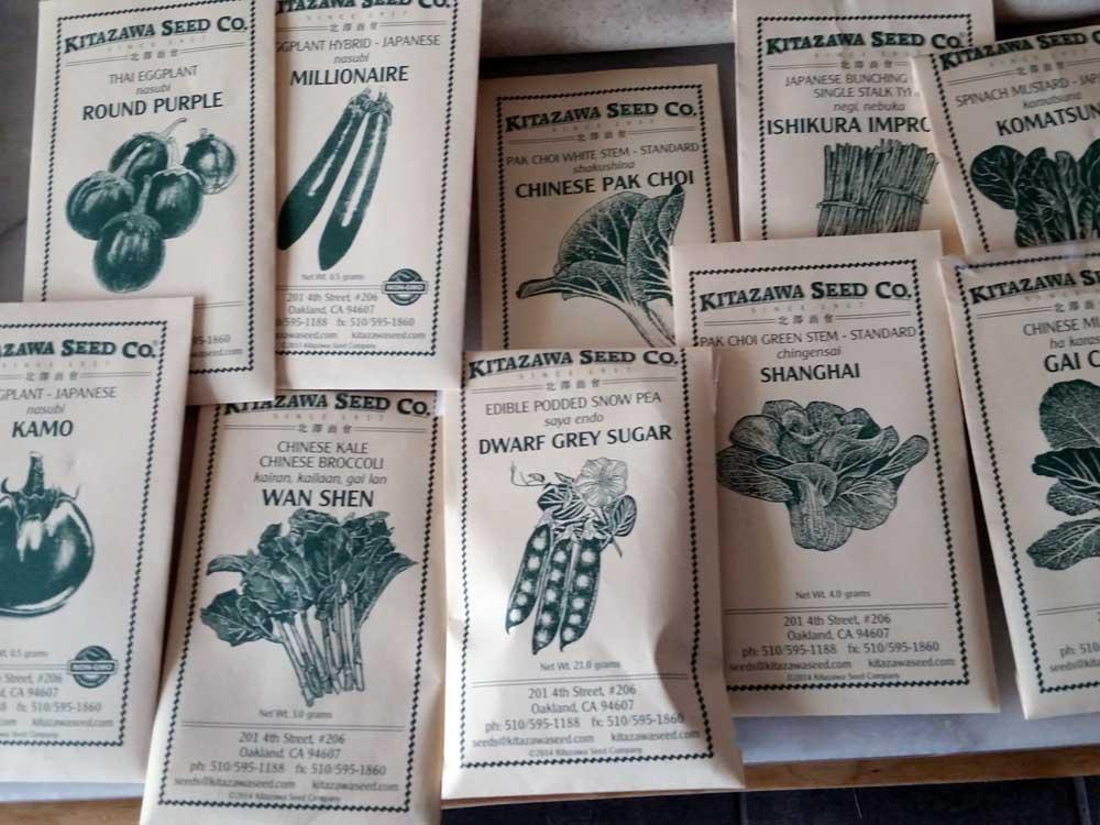 Kitazawa seed packets.