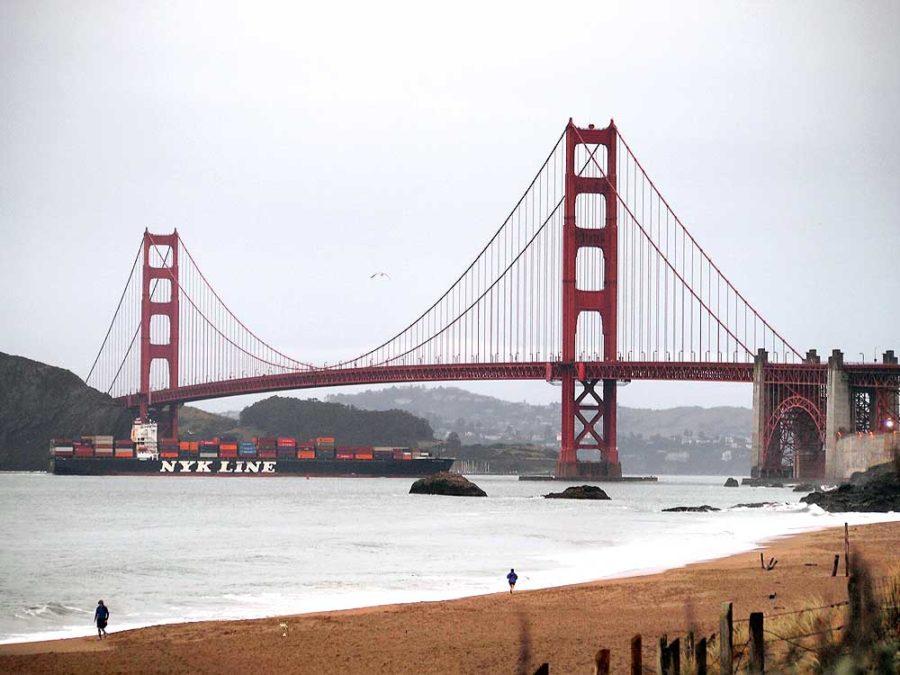 Golden Gate Bridge from Bakers Beach.