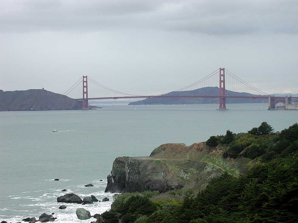 Golden Gate Bridge & Lands End.