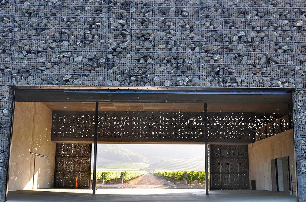 Dominus Winery, Napa Valley. Design by Herzog & De Meuron. Photo by Sarah Ackerman.