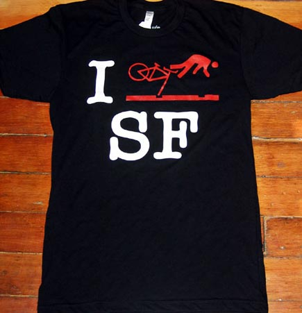 i bike sf tee shirt