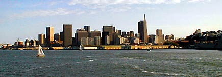 view of san francisco from oakland ferry