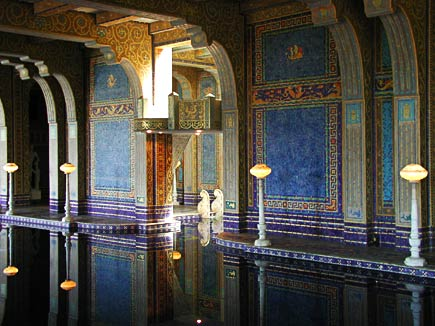 indoor pool at hearst castle