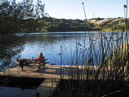 floating picnic area, lafayette reservoir
