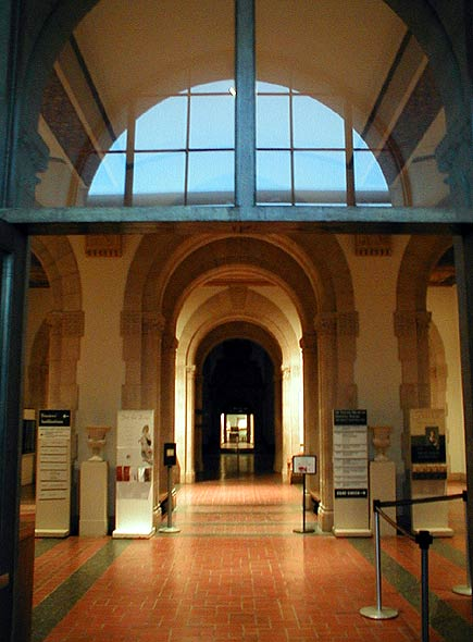 lobby of old de young building