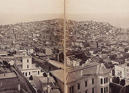 Muybridge, San Francisco panorama, detail, ca 1877-78