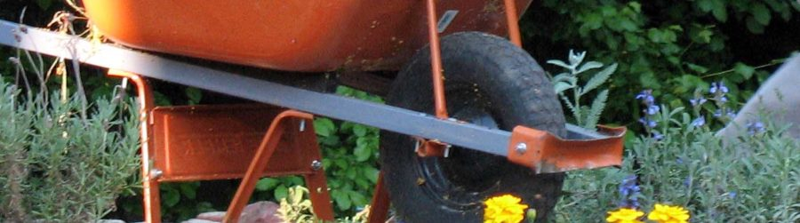 Wheelbarrow detail.