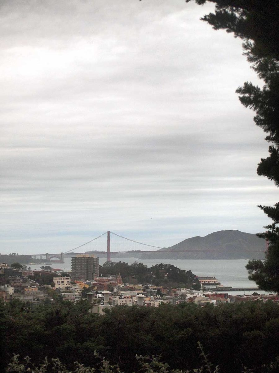 Golden Gate Bridge from Coit Tower.