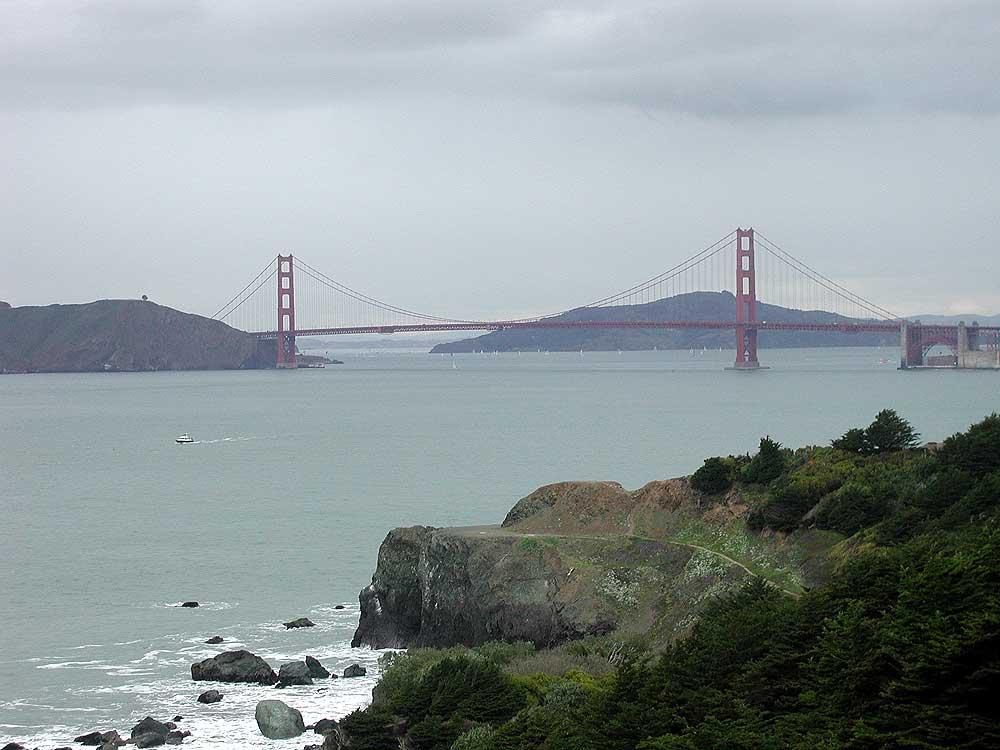 Golden Gate Bridge & Lands End.