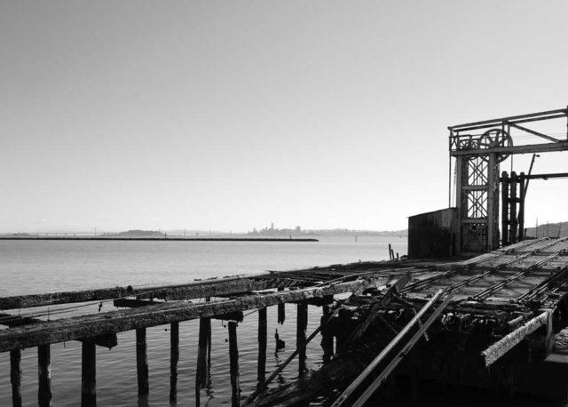 Ferry landing at Ferry Point, Richmond.