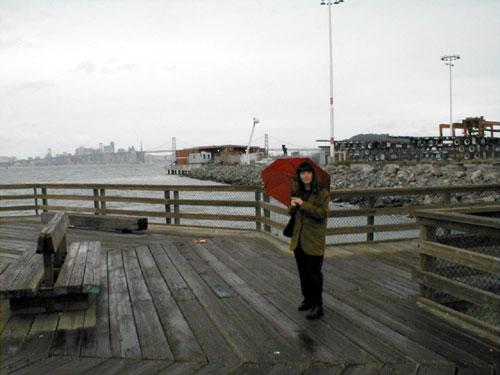 carol at 7th street pier, oakland