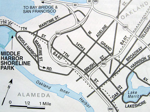 map to middle harbor park